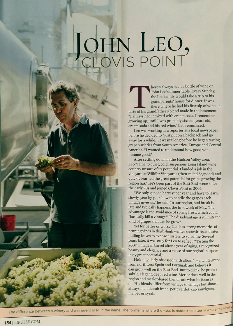 John Leo  featured in the October, 2015